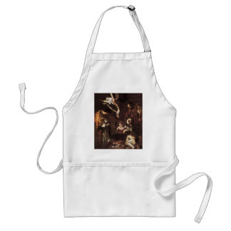 Caravaggio -Nativity with St Francis & St Lawrence Standard Apron
