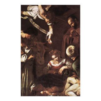 Caravaggio -Nativity with St Francis & St Lawrence Stationery