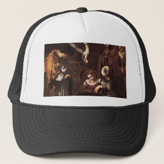 Caravaggio -Nativity with St Francis & St Lawrence Trucker Hat
