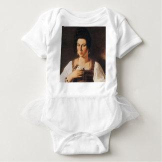 Caravaggio - Portrait of a Courtesan Painting Baby Bodysuit