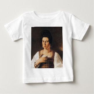 Caravaggio - Portrait of a Courtesan Painting Baby T-Shirt
