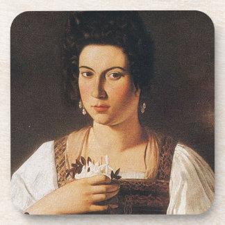 Caravaggio - Portrait of a Courtesan Painting Coaster