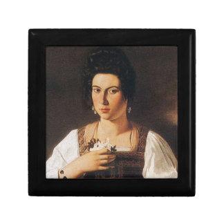 Caravaggio - Portrait of a Courtesan Painting Gift Box