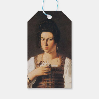 Caravaggio - Portrait of a Courtesan Painting Gift Tags