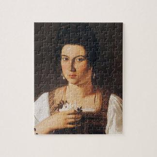 Caravaggio - Portrait of a Courtesan Painting Jigsaw Puzzle