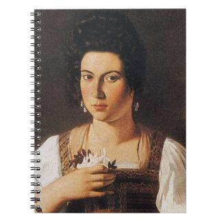 Caravaggio - Portrait of a Courtesan Painting Notebook