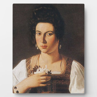 Caravaggio - Portrait of a Courtesan Painting Plaque