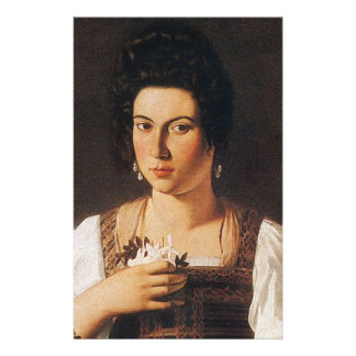 Caravaggio - Portrait of a Courtesan Painting Stationery