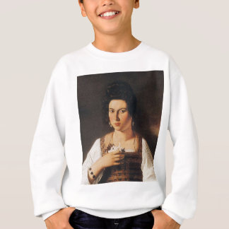 Caravaggio - Portrait of a Courtesan Painting Sweatshirt