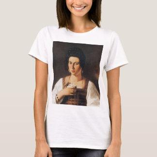 Caravaggio - Portrait of a Courtesan Painting T-Shirt
