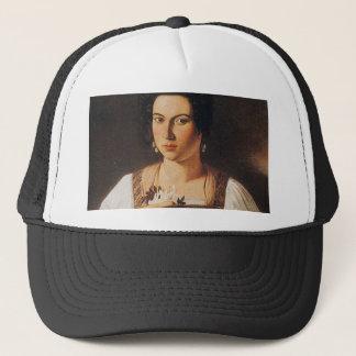 Caravaggio - Portrait of a Courtesan Painting Trucker Hat