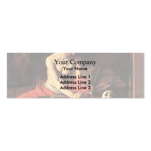 Caravaggio- Saint Jerome Writing Business Card Template