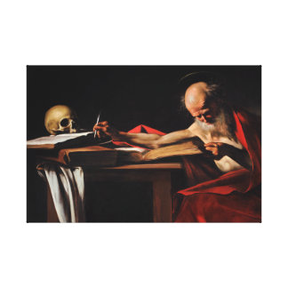 Caravaggio - Saint Jerome Writing Canvas Print
