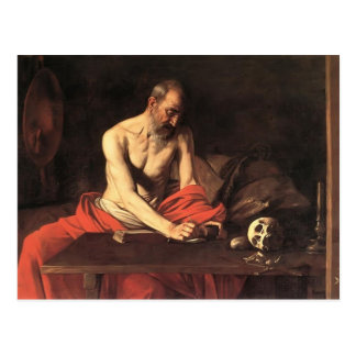 Caravaggio- Saint Jerome Writing Postcard