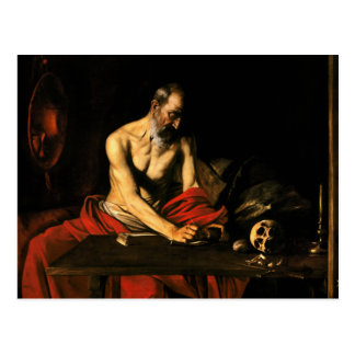 Caravaggio - Saint Jerome Writing Postcard