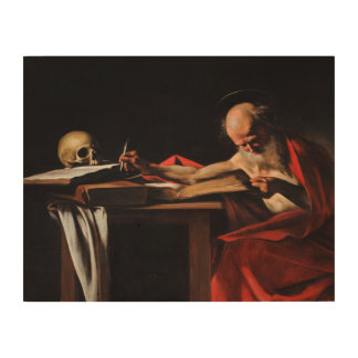 Caravaggio - Saint Jerome Writing Wood Canvas