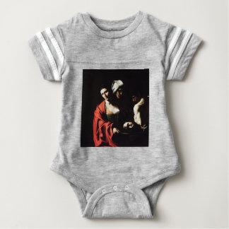 Caravaggio - Salome - Classic Baroque Artwork Baby Bodysuit