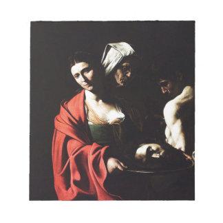 Caravaggio - Salome - Classic Baroque Artwork Notepad