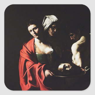 Caravaggio - Salome - Classic Baroque Artwork Square Sticker
