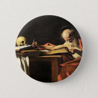 Caravaggio - San Gerolamo - Renaissance Painting 2 Inch Round Button