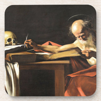 Caravaggio - San Gerolamo - Renaissance Painting Coaster
