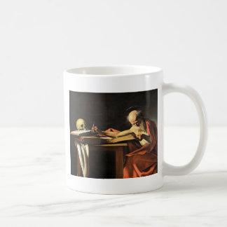 Caravaggio - San Gerolamo - Renaissance Painting Coffee Mug