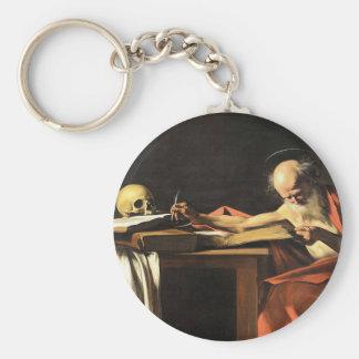 Caravaggio - San Gerolamo - Renaissance Painting Keychain