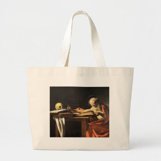 Caravaggio - San Gerolamo - Renaissance Painting Large Tote Bag