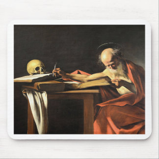 Caravaggio - San Gerolamo - Renaissance Painting Mouse Pad