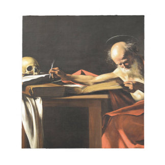 Caravaggio - San Gerolamo - Renaissance Painting Notepad