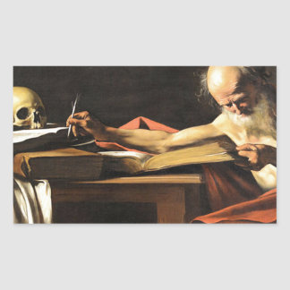 Caravaggio - San Gerolamo - Renaissance Painting Sticker