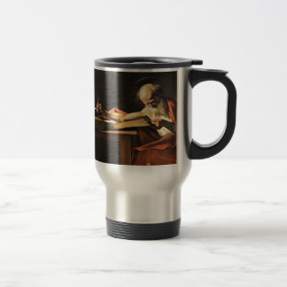 Caravaggio - San Gerolamo - Renaissance Painting Travel Mug