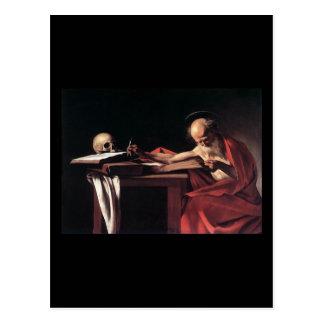 Caravaggio St Jerome Postcard
