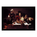 Caravaggio Supper At Emmaus Card