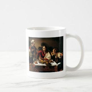 Caravaggio - Supper at Emmaus - Classic Painting Coffee Mug
