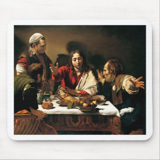 Caravaggio - Supper at Emmaus - Classic Painting Mouse Pad
