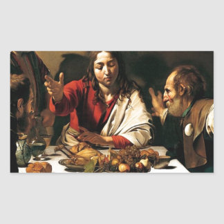 Caravaggio - Supper at Emmaus - Classic Painting Sticker