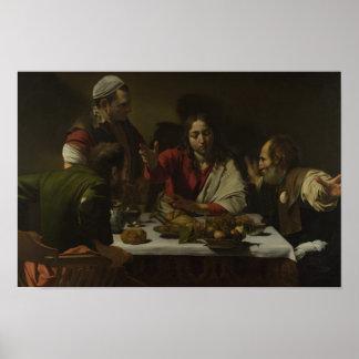Caravaggio - Supper at Emmaus Poster