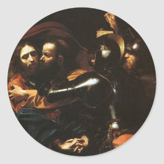 Caravaggio - Taking of Christ - Classic Artwork Classic Round Sticker
