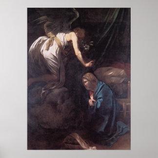 Caravaggio The Annunciation Poster