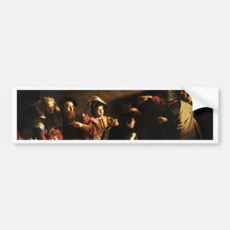 Caravaggio - The Calling of Saint Matthew Bumper Sticker