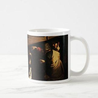 Caravaggio - The Calling of Saint Matthew Coffee Mug