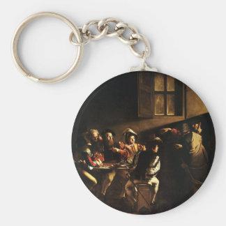 Caravaggio - The Calling of Saint Matthew Keychain