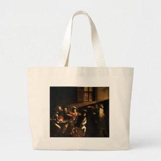 Caravaggio - The Calling of Saint Matthew Large Tote Bag
