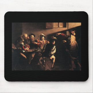 Caravaggio The Calling Of Saint Matthew Mouse Pad