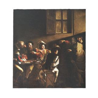 Caravaggio - The Calling of Saint Matthew Notepad