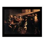 Caravaggio The Calling Of Saint Matthew Postcard