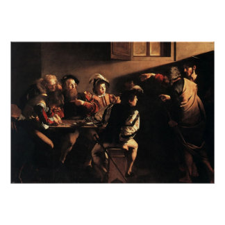 Caravaggio The Calling Of Saint Matthew Poster