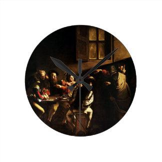 Caravaggio - The Calling of Saint Matthew Round Clock