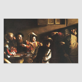 Caravaggio - The Calling of Saint Matthew Sticker